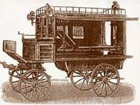 Kresba prvních sanitních vozů, kterými v 19. století disponovaly staré nemocnice
