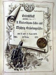 K 25. výročí založení vydal spolek pamětní medaili
