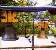 Nové zvony pro kostel sv. Michaela. foto: Litvínov v proměnách času - L.Pokorná