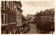 Freihtsplatz 1937 a Breite Gasse,v pozadí slavné Café Central