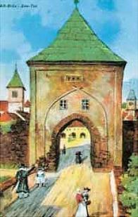 Jezerní brána, kudy se vyjíždělo z Mostu směrem na Chomutov, zanikla roku 1837