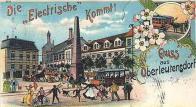 Litvínovský pivovar na dobové, kreslené pohlednici