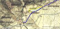 Trasa na mapě historické