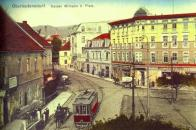 Náměstí Svobody bylo už za 1.republiky, co se týče dopravy, asi nejrušnějším místem na naší trati. Často je vyobrazováno s tramvajovým vozem v kombinaci s automobily či koňskými povozy