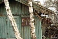 Dojdeme na litvínovské zhlaví, kde stojí dřevěný domek bývalého stanoviště výhybkáře