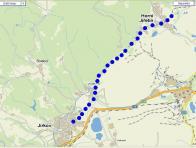 Mapka úseku Horní Jiřetín - Jirkov