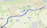 Mapka úseku Litvínov - Horní Jiřetín