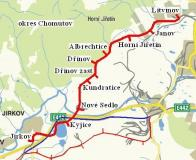 Mapka s vyznačenými zastávkami.