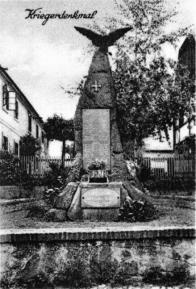 Pomník obětem I.světové války v Chudeříně