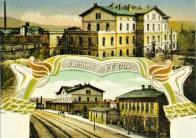Staré duchcovské nádraží v době své největší slávy. Mimochodem, přestavbu původního objektu do této podoby realizoval architekt Hermann Rudolf před sto deseti lety