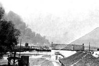 Obec Souš po bombardování