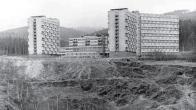 """Opuštěný malolom Klement II v sousedství """"Koldomu"""" (foto z r. 1963)"""