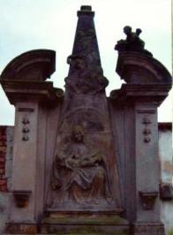 Reliéf panny Marie v Oseku