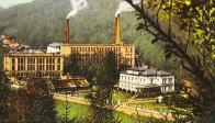Rickenova vila na historické pohlednici po roce 1905.