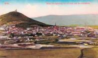 Celkový pohled na staré město Most od Špičáku roku 1915