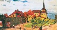 Kostel svatého Václava s přilehlou návsí v 19. století na místě dávné osady Václavice, která byla později přičleněna k rozrůstajícímu se Mostu. Ještě samostatnou vesnici Václavice obdrželi pražští křížovníci a ti zde vystavěli kostel i nemocnici