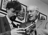 Při besedě v knihkupectví Luboše Růžičky v Mostě v roce 1997