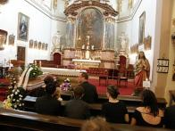Poslední rozloučení s Walterem Smejkalem v litvínovském kostele sv. Michaela