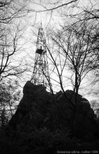 Triangulační bod. foto: Standa Krčka - 1966