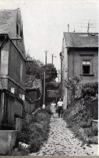 Pohled  k Lázeňskému vrchu. cca v 60 letech 20.století.