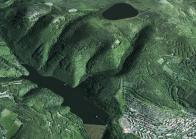 Takto by vypadal Šumný důl, při postavení vodní přečerpávací elektrárny.