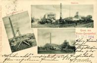Šachty ve vlastnictví Severočeské uhelné Zleva Quido I.a II nahoře Centrum a dole Humboldt I.