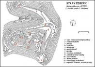 Terénní náčrt, stav r. 1993