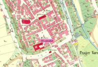 III.náměstí na mapě z r.1842