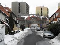 Ulice Emy Destinové, na jejím konci Nerudovo náměstí. 2008