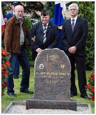 V Lomu uctili památku pilota Bankse