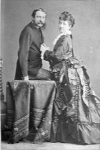 Kristina z Waldsteina s manželem Leopoldem Thun-Hohensteinem