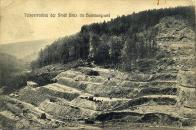 Hloubení přehrady v Hamrském údolí.