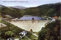 Mostecká přehrad po dokončení.Cca 1920.