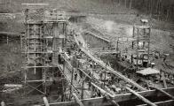 Výstavba kamenné hráze probíhala v letech 1902-1904