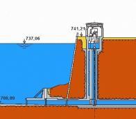 Průřez přehradní zdí