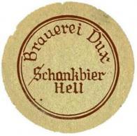 Pivní tácek zámeckého pivovaru v Duchcově