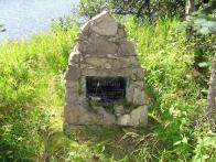 Pomníček mistra lesnického učiliště z Flájí Jaroslava Lafka, který zde v roce 1962 zahynul
