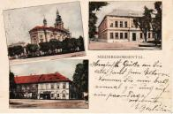 Kostel-radnice-hospoda 1937