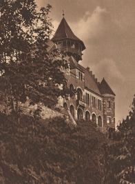 Při slavnosti k poctě mistra Jana Husa plál 5. července 1919 na Hněvíně obrovský oheň. Ilustrační foto Oblastní muzeum v Mostě rok cca 1920.