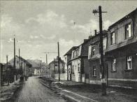 Popis na pohlednici : Niedereutensdorf i. Sudetengau (Dolní Litvínov Sudetská župa)