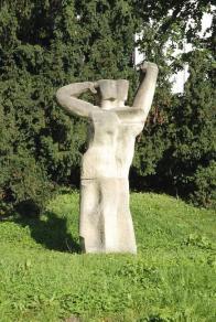 """""""Dvojčata?"""" Miloslav Chlupáč, 1981, hořický pískovec, Školní,"""