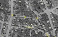 V místech, kde je dnes parkoviště nad ulicí  B. Němcové se nacházela ulice Hornická. Mapa z r. 1953