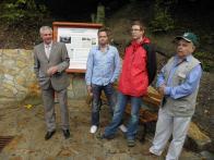 Pošta ,Aulický, Setvák-iniciátoři projektu s panem starostou Šťovíčkem