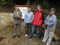 Pošta, Aulický, Setvák-iniciátoři projektu s panem starostou Šťovíčkem