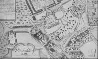 Oblíbenou předlohou pro zobrazování počátků vývoje města se staly úvodní grafické listy z alba litvínovské manufaktury. Zejména byl překreslován list č. 3, který byl drobnými zásahy upravován a případně kolorován. Na snímku je situační plán připsán k roku 1715