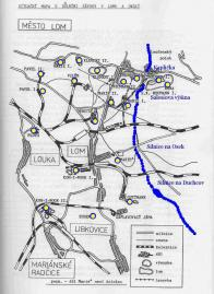Důl Anna v Loučné na mapě