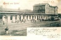 Ústecko-teplická dráha byla v rušných listopadových dnech vyřazena z provozu. Snímek Mosteckého nádraží je ze sbírky Josefa Švece, reprofoto Oblastní muzeum v Mostě.