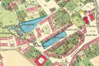 Mapa z r. 1842, - která pomůže lépe pochopit jak se postupně měnila dispozice náměstí