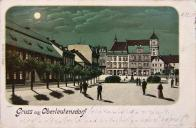 Východní část náměstí. Kaiser Josef Platz 1901