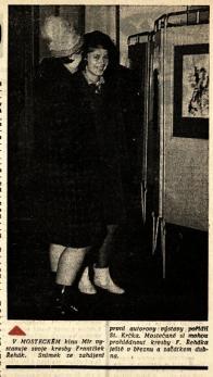 Jediná oficiální zmínka o Františku Řehákovy je pak v Kulturním kalendáři Mostecka z března 1963